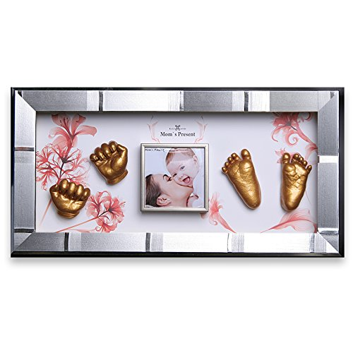 Momspresent Baby Hands and Foot Casting 3D Print DIY Kit with Silver Frame5 (Gold) 51wNEmyvsZL