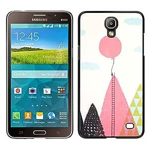 Samsung Galaxy Mega 2 / SM-G750F / G7508 Único Patrón Plástico Duro Fundas Cover Cubre Hard Case Cover - Balloon Ladder Hope Inspiring Pink Polygon