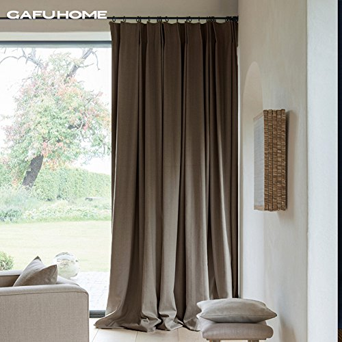 Thick living room bedroom curtains,59102inch 98102inch 138102inch Taupe-A 59102inch by YoumeiHome