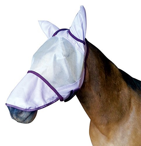 Blue Protective Fly Sheet (Centaur Super Fly Mask - Pony Long Nose - Size:Cob)