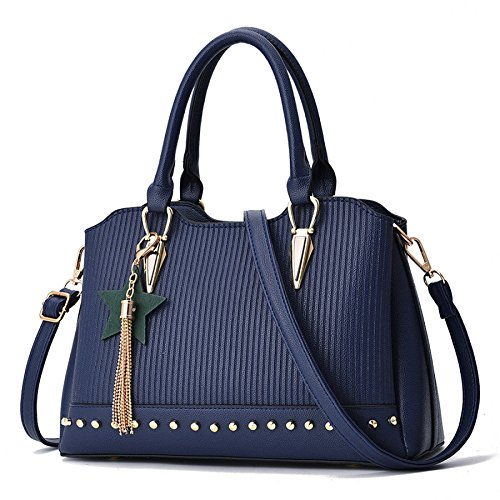 Sapphireblue Mode Sac Shoulder Womens à Bag Main PU Pendentif BAILIANG q7OwvFnB