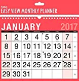 2017 TALLON CALENDAR - RED & BLACK - EASY VIEW MONTHLY PLANNER - MONTH TO VIEW - 3802