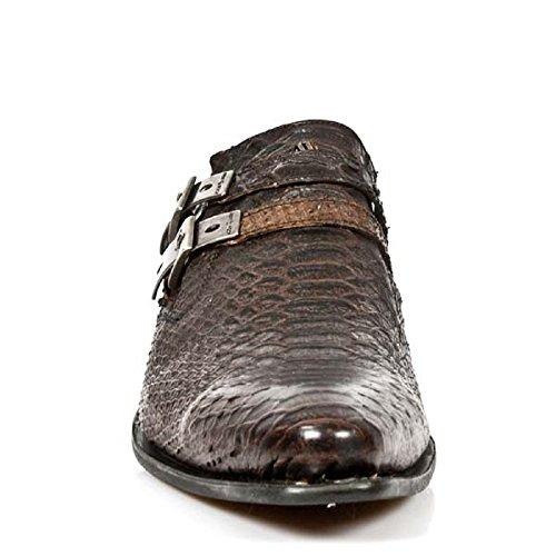 NEWROCK New Rock 2246 - S32 acciaio intelligente Wes Brown in vernice Scarpe uomo fibbia di