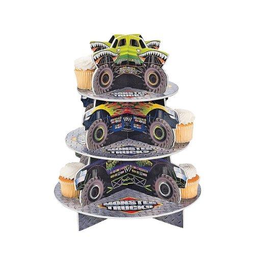"""OTC - Monster Truck Cupcake Holder, 12"""" diam. x 14 1/2"""" High (1-Pack)"""