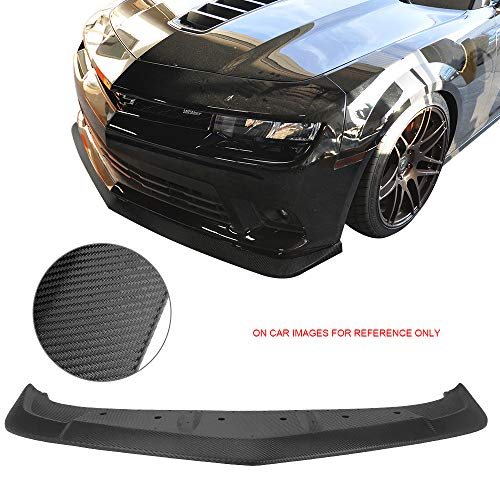 Front Bumper Lip Fits 2014-2015 Chevy Camaro SS & Z/28 | A Style Unpainted PP Air Dam Chin Splitter Spoiler Lip by IKON MOTORSPORTS ()