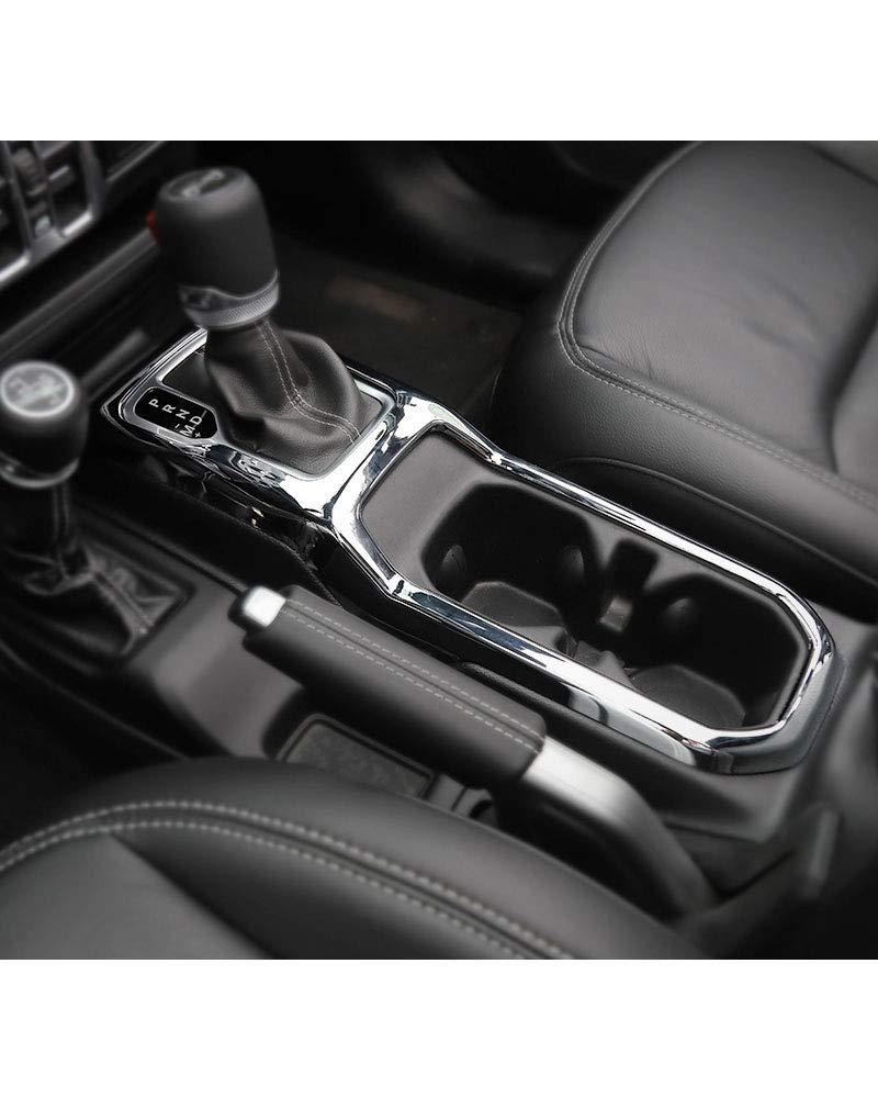 LLHAI Compatibile con Auto Modanature Interne Jeep Wrangler JL 2018 ABS Pannello di Copertura del Cambio Accessori della Decorazione Jeep Wrangler JL