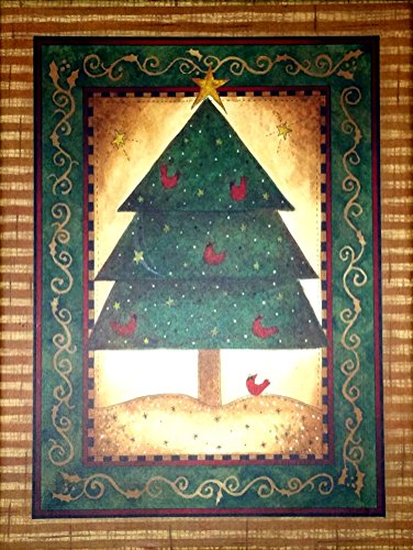 Best Value Blank Christmas Tree Card Box Set of 20 Cards and Envelopes AT A GOOD PRICE {jg} Great for Mother, father, dad, grandma, grandpa, sister