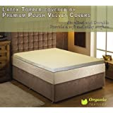 Natural Latex Mattress Topper with Premium Velvet Covering Cal King size