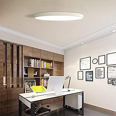 Nrpfell eclairage de plafond a LED ultra-mince plafonniers pour le salon lustres de plafond pour la salle plafonnier moderne haut 5cm blanc