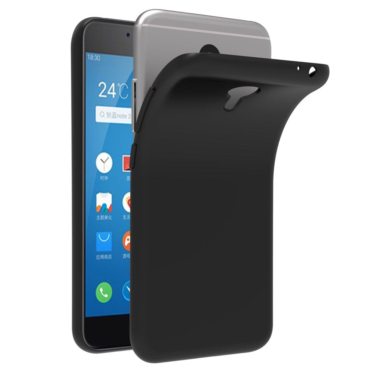 iVoler Funda Carcasa Gel Negro para Meizu M3 Note, Ultra Fina 0,33mm, Silicona TPU de Alta Resistencia y Flexibilidad
