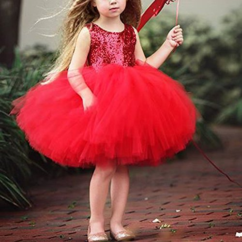 Dalla Paillettes Bambina Neri Yiding back Partito Regalo Carino Principessa Gonna Tollder Vestito Nozze Abiti Garza Bare pXnpwBEAIx