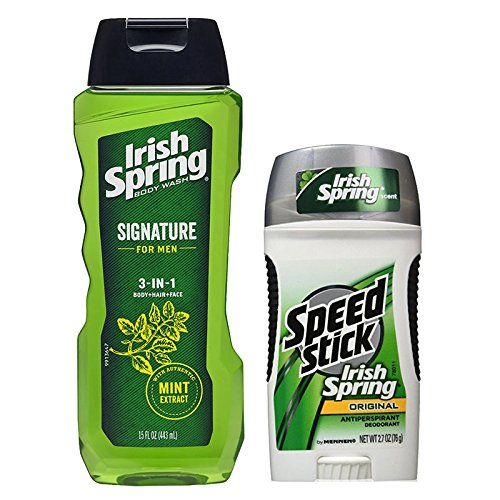 Irish Spring Body Wash & Speed Stick Antiperspirant Bundl...