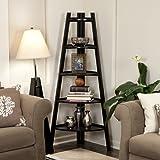Danya B. Five Tier Corner Ladder Display Bookshelf