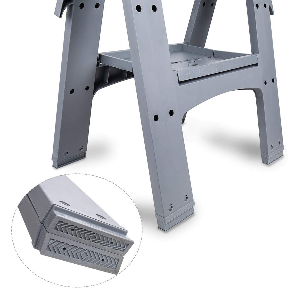 AmazonBasics Folding Sawhorse - Set of 2, 900 Pound Capacity