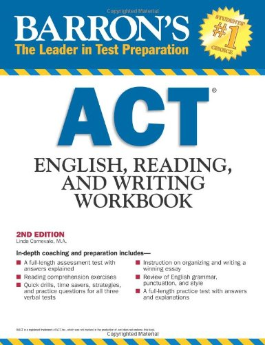 ACT English; Reading;and Writing Workbook (Barron's Act English; Reading and Writing)