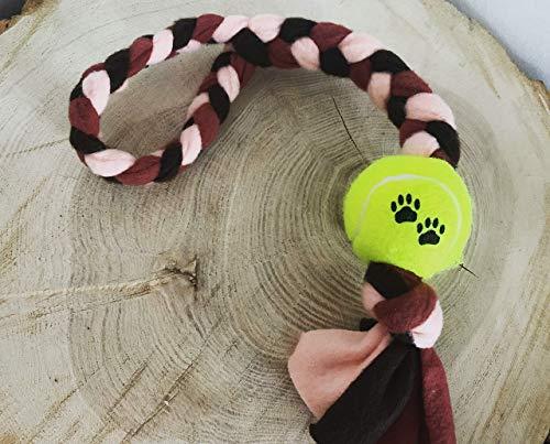 Hundespielzeug - Fleecezergel mit Ball