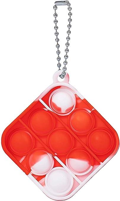 Watkings 1 x Push Pop Bubble Sensory Fidget Juguete Alivio del Estr/és Necesidades Especiales Silencioso Aula