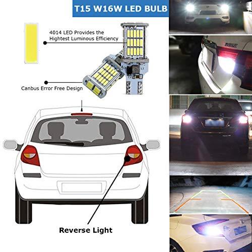 912 921 LED Backup Light Bulbs,AUTOBEAM 2000 Lumens T15 906 W16W for Back Up Lights Reverse Lights 360 Degree Pack of 2 6000K White