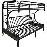 ACME Furniture 02093BK Eclipse Futon Bunk Bed, Twin X-Large/Queen, Black