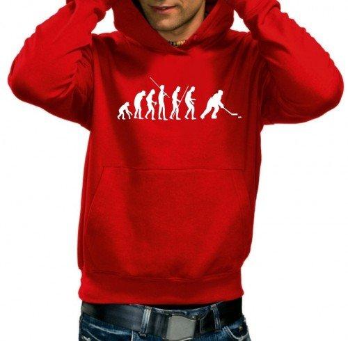 EISHOCKEY evolution ICEHOCKEY - Sweatshirt mit Kapuze - Hoodie rot Gr.XL