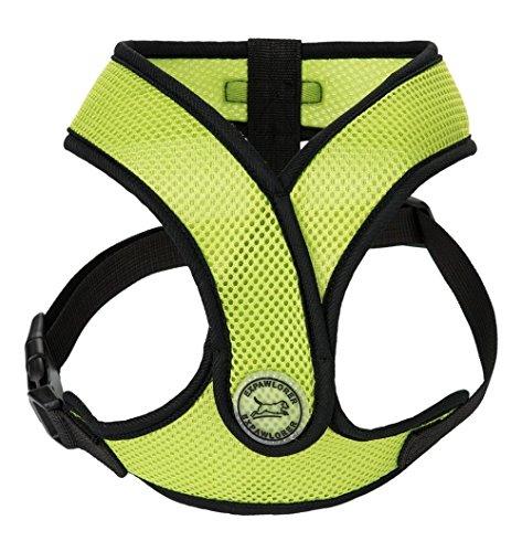 "EXPAWLORER Choke Free Small Dog Harness, X Design Adjustable Soft Mesh Summer Vest, Fit Chest Girth 13""-16"", Green"