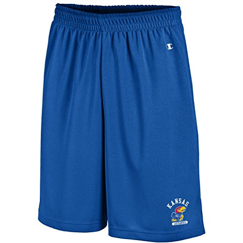 (Champion NCAA Kansas Jayhawks Men's Men's Classic Team Mesh Short, X-Large, Royal Blue )