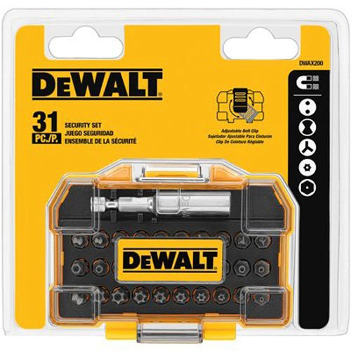 DEWALT DWAX200 Security Screwdriving Set, 31-Piece