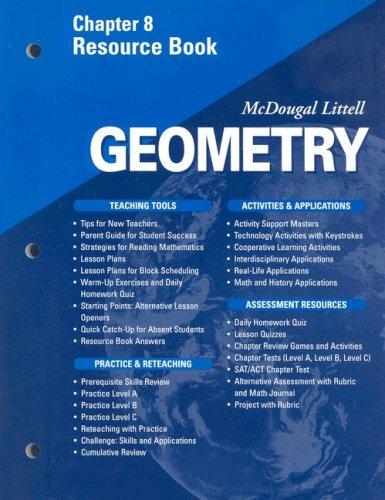 McDougal Littell - Geometry - Chapter 8 Resource Book