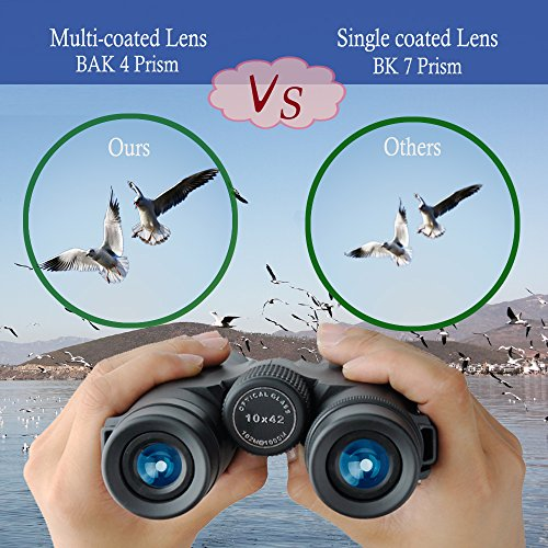 51wNKulUx3L - Gosky 10x42 Binoculars for Adults, Compact HD Professional Binoculars for Bird Watching Travel Stargazing Hunting Concerts Sports-BAK4 Prism FMC Lens-With Phone Mount Strap Carrying Bag