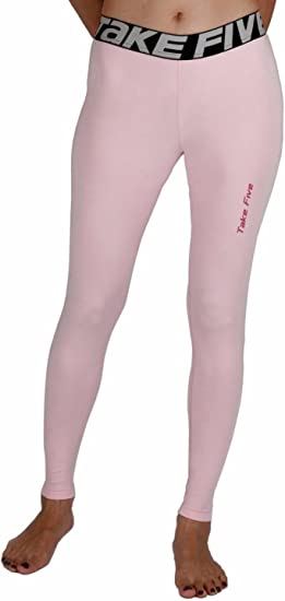 amazon com justonestyle new 140 skin tights compression leggingsnew 140 skin tights compression leggings base layer pink running pants womens (s)