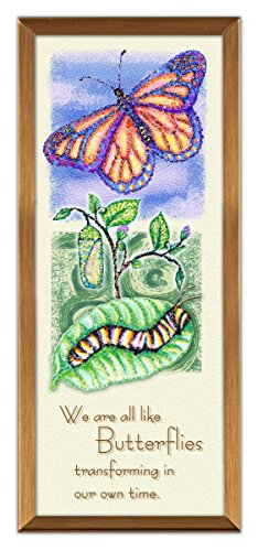 Cathedral Art GP230 Butterflies Copper Expression Plaque, 3 by -