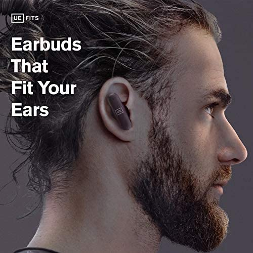 ULTIMATE EARS FITS True Wireless Bluetooth Custom FitEarbuds, All Day Comfort, Built-in-Mic, Premium Audio, Passive Noise CancellingEarphones, 20 Hour Playtime, Sweat Resistant Headphones (Dark Blue)