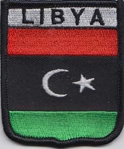 Libia bandera de Reino Unido bordado parche (A392)