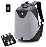 Business Laptop Backpack, Anti Theft Travel Backpack for Men with Lock&Anti-explosion Zipper&Electronic Organizer Board, Slim College School Computer Bag with USB Charging Port Fits 17' Laptop