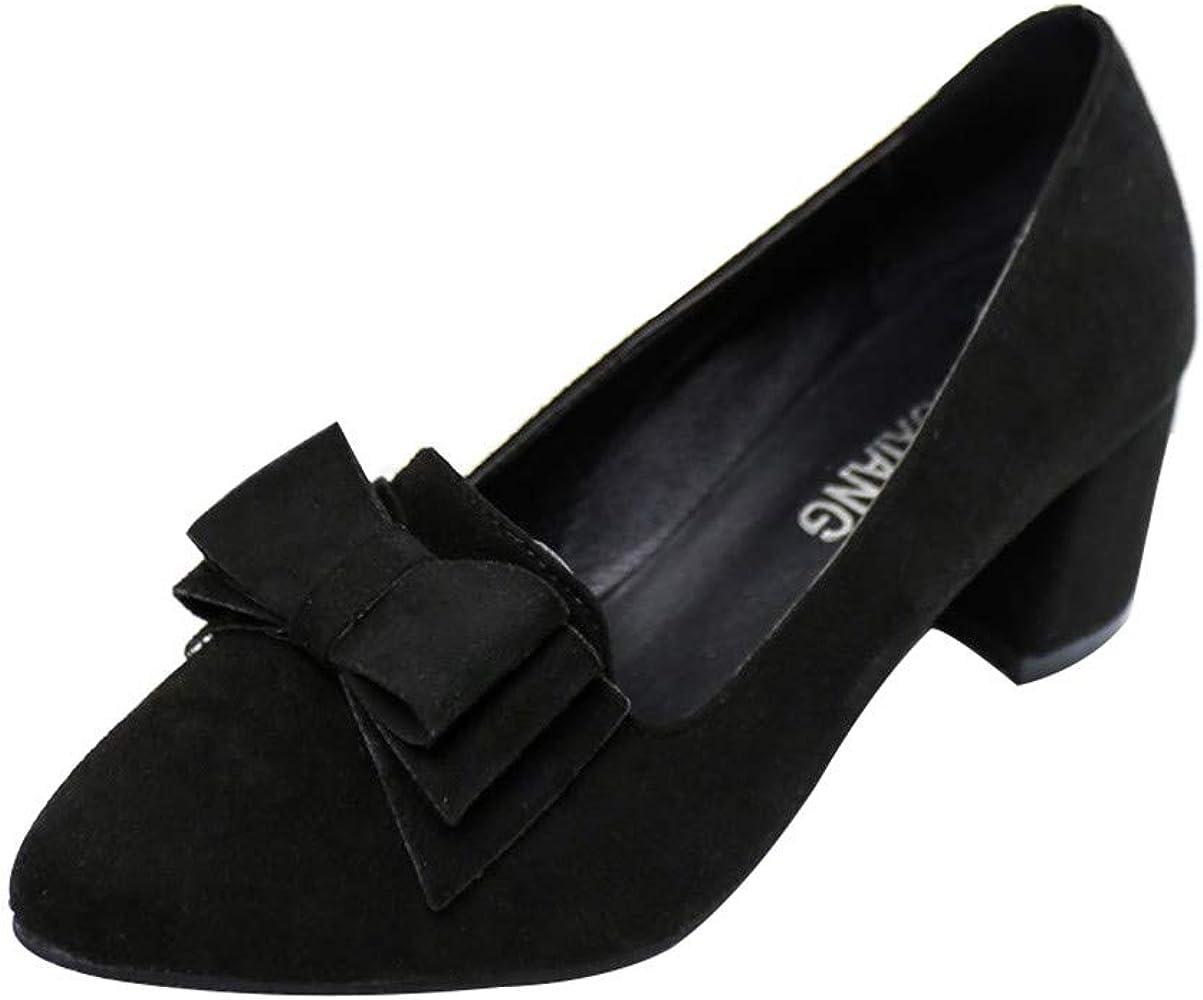 Chunky Block Heel Dress Shoes