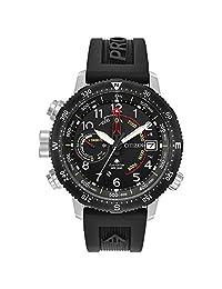 Men's Citizen Eco-Drive Promaster Altichron Black Polyurethane Strap and Black Dial Watch BN5058-07E