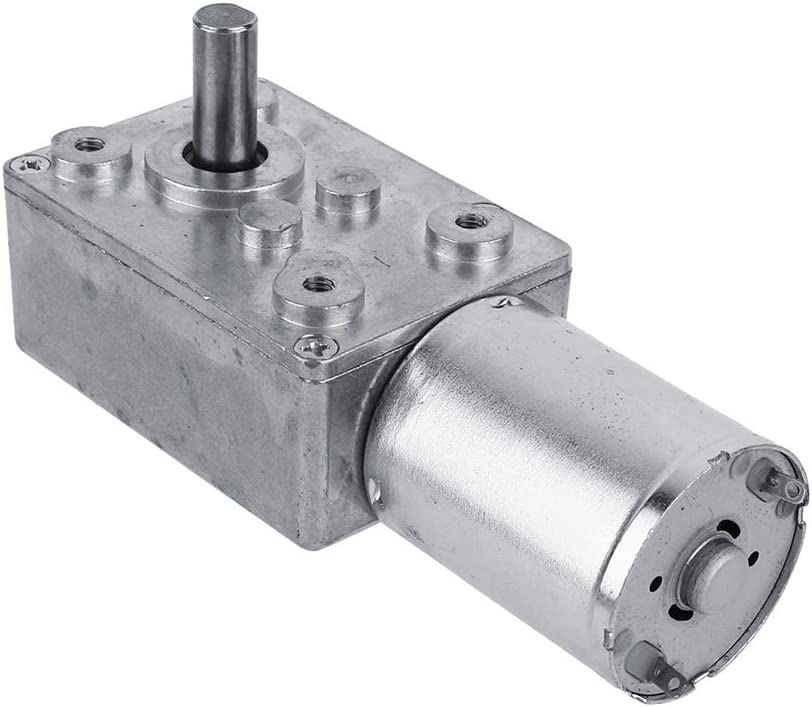 NIMOA Motor de caja de engranajes DC 12V Motor de engranaje de alto torque Motor de reducción de velocidad CW/CCW,12V Motores (62RPM)