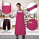 Jubatus 2 Pack 100% Cotton Aprons with 2 Pockets