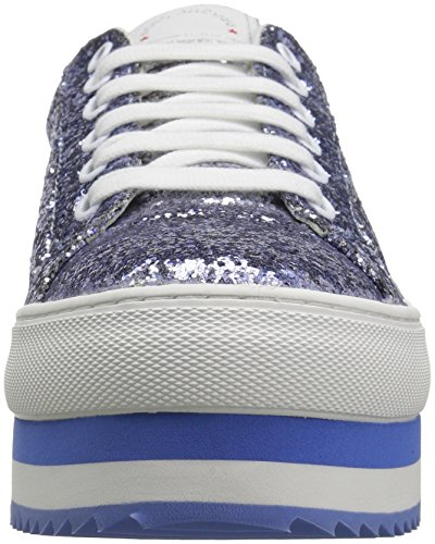 Marc Jacobs Femmes Grande Plate-forme Lace Up Sneaker Bleu   Multi ... feeece062759