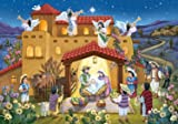 Prepare for Christmas by opening a window each day during Advent to reveal a special picture. The front is accentuated with glitter and bible text that follows the story of the Nativity is presented in Spanish on the back of each window. Haga...