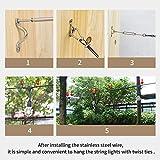 YQL Outdoor Lights Hanging Kit,Globe String