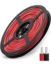65.6Ft 22AWG Electrical Wire, 20M Extension Cable Wire Cord JACKYLED Cable, LED Strip Lights Hookup Wire for Led Strips Single Color 3528 5050 (Black Red)