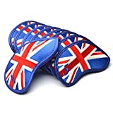 GOOACTION 9Pcs/Set British UK Flag Golf Iron Head Covers Universal Golf Club Headcovers Fits Most Irons and Wedges