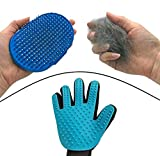Dasksha Cat DeShedding Tool for Cats – 2 Tool Set Includes Pet Grooming Glove & Gentle Deshedding Undercoat Rake- Perfect for Removing Long or Short Cat Hair