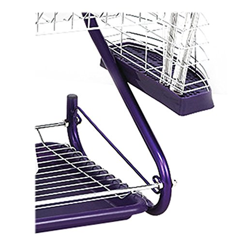 Dish Drying Rack - TOOGOO(R) Stainless Steel 2 Tiers Kitchen Dish Cup Drying Rack Drainer (Color:purple) by TOOGOO(R) (Image #2)