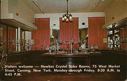 T. G. Hawkes & Co. - Crystal Sales Rooms Corning, New York Original Vintage Postcard by CardCow Vintage Postcards