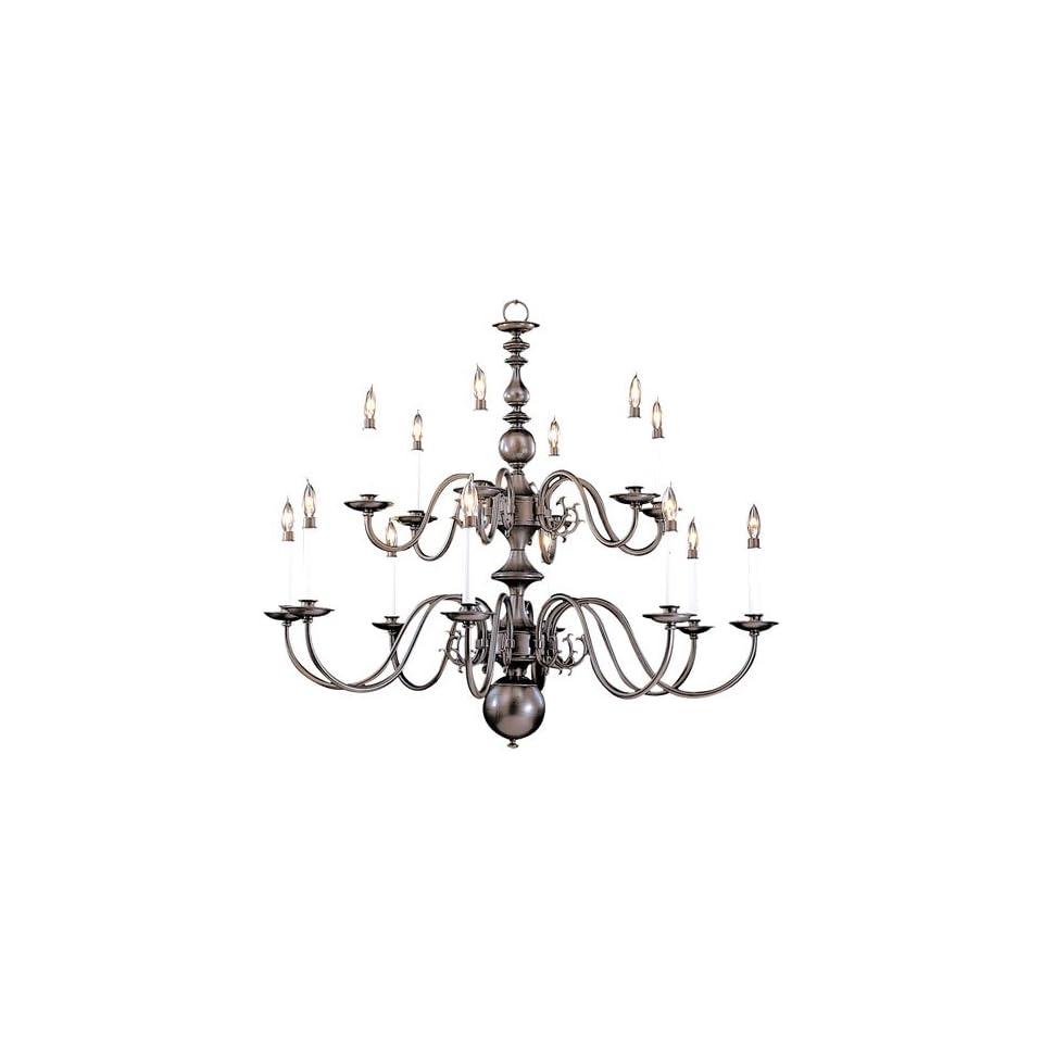 Framburg 9135 MB 14 Light Jamestown Foyer Chandelier, Mahogany Bronze