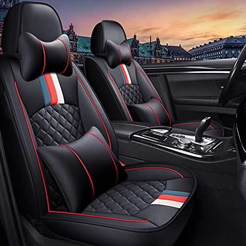 Universele autostoelhoes Stijlvol vlekbestendig waterdicht leer, compatibel met Toyota Corolla 2015-2020,D