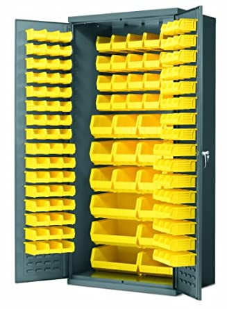 Amazon.com: Akro-Mils AC3624 Y Steel Storage Cabinet with Louvered ...
