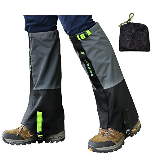 PAMASE Waterproof Hiking Gaiters for Men and Women, High Leg Gaiters for Snow Hunting